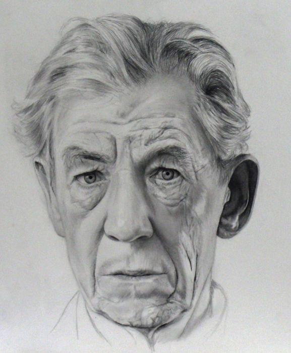 Ian McKellen by akalinz